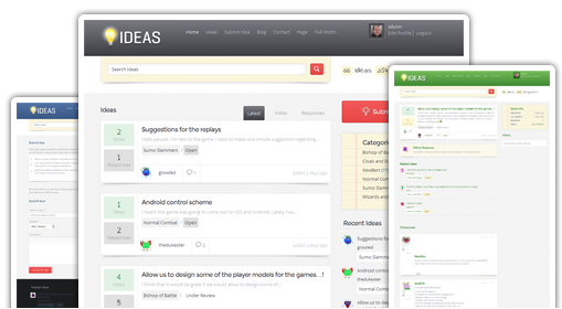 Ideas - a customer feedback WordPress theme