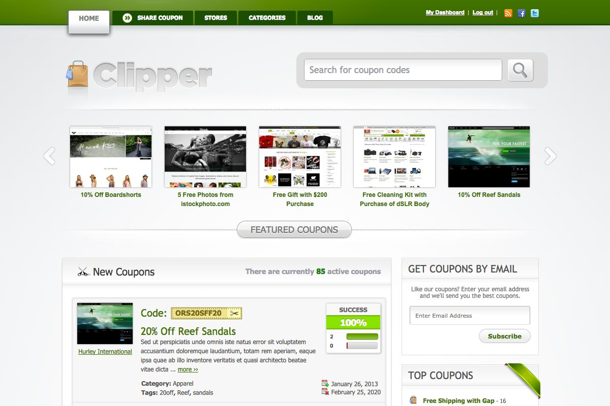 Clipper WordPress theme screenshot