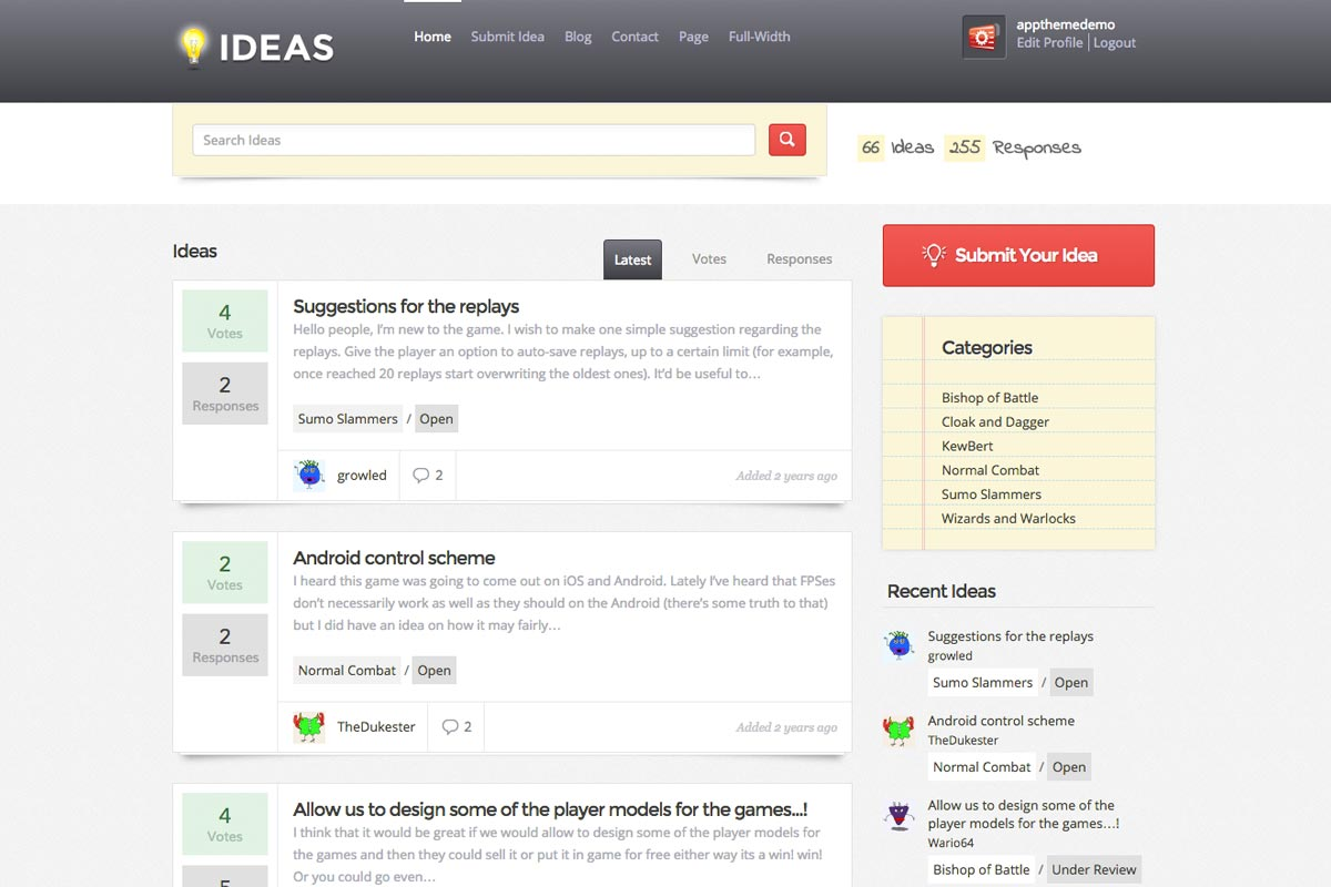 IdeasTheme screenshot