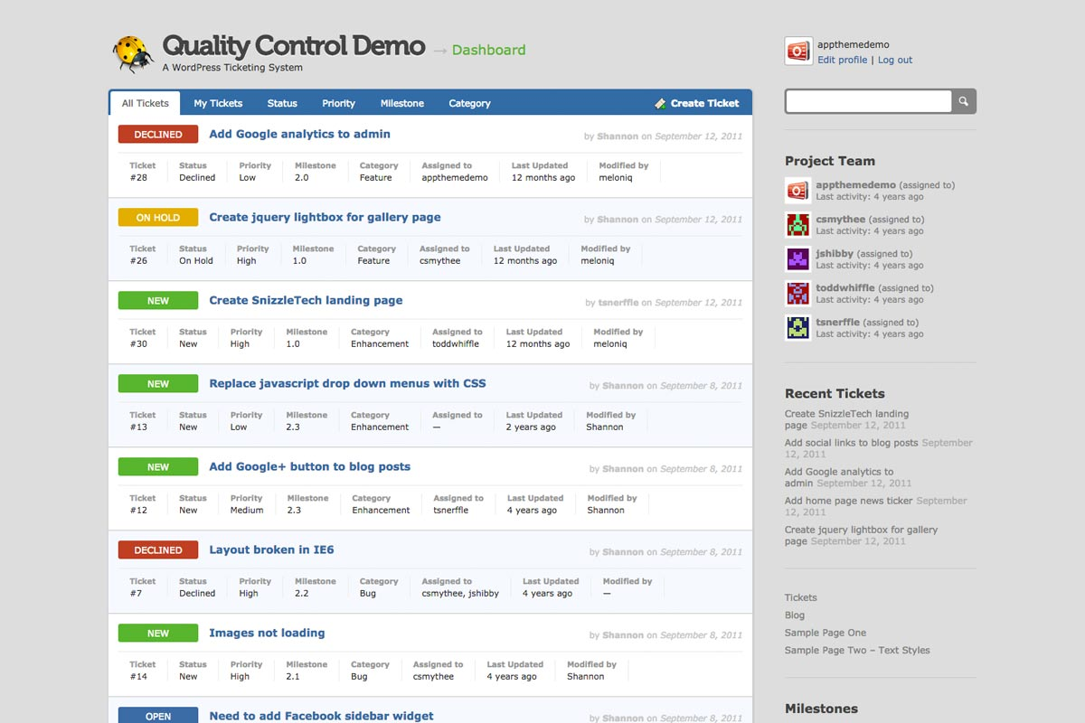 Quality Control WordPress theme screenshot