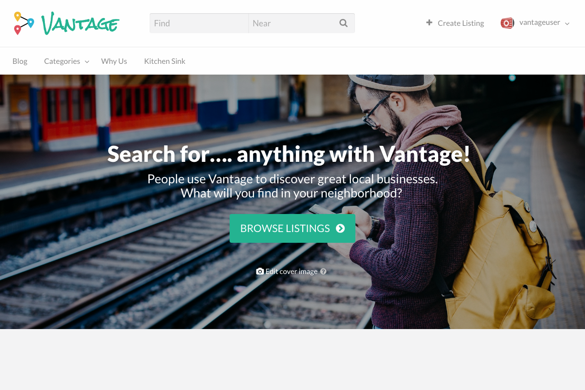Vantage WordPress theme screenshot